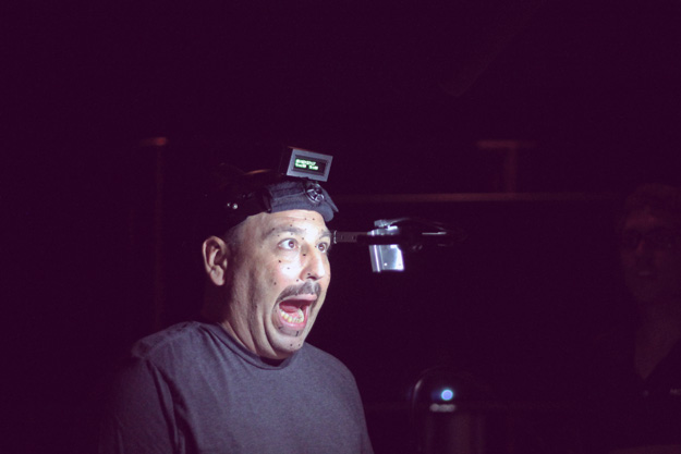 JB Blanc making silly faces doing motion capture voiceover