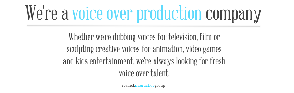 We're a voice over production company
